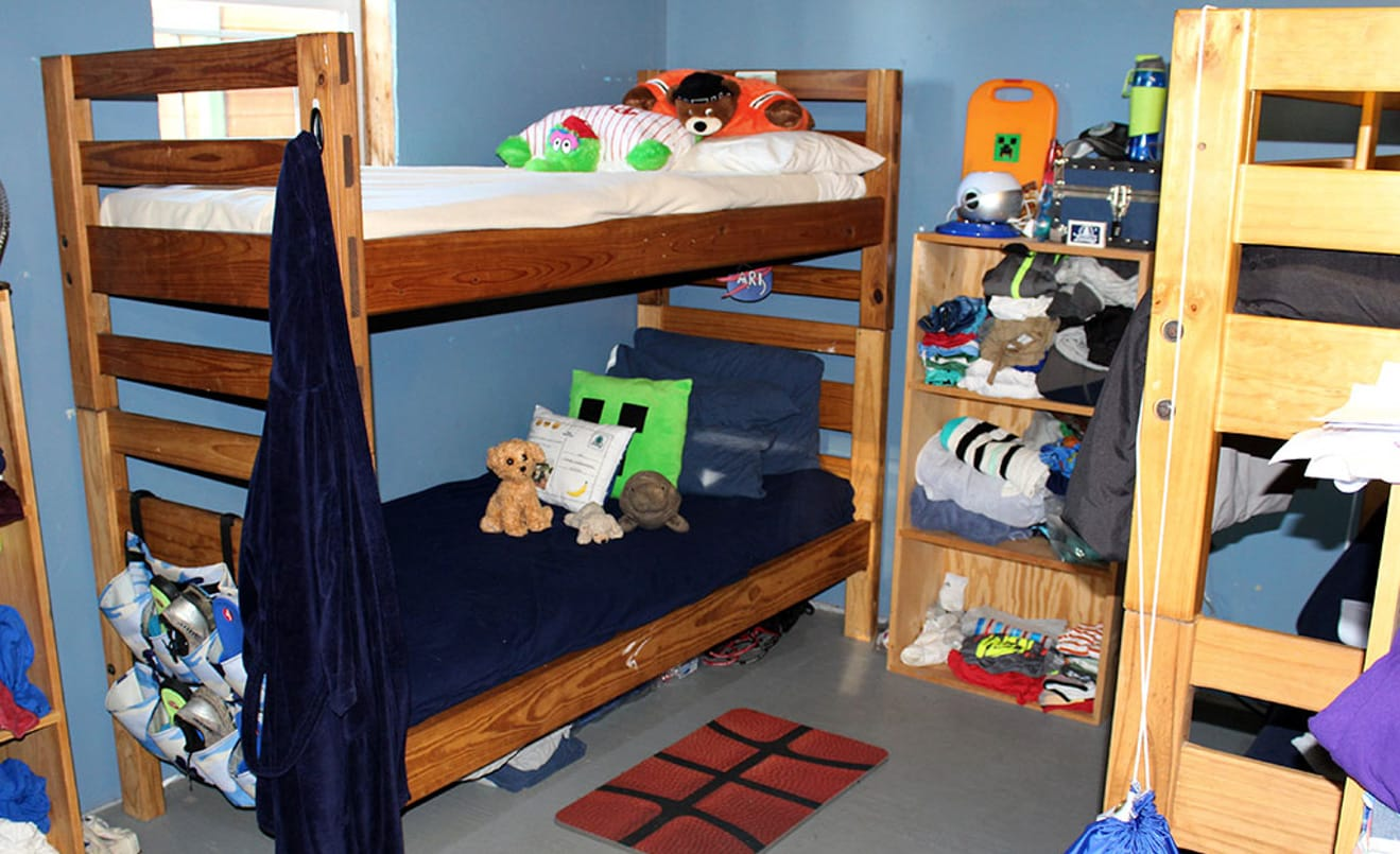 Interior of boys bunk