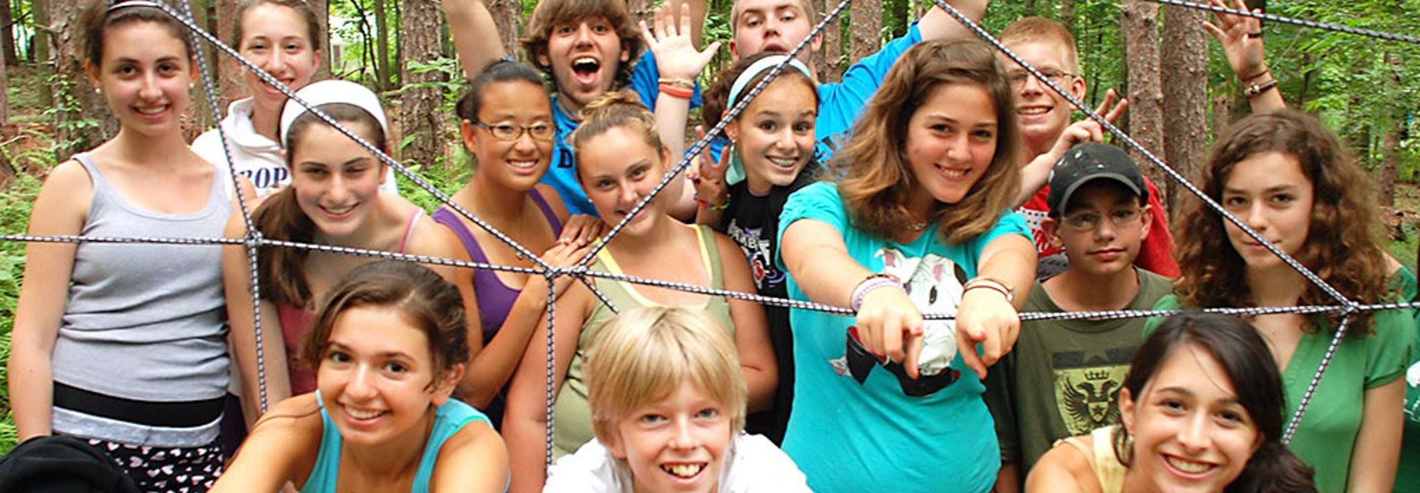campers at ropes course