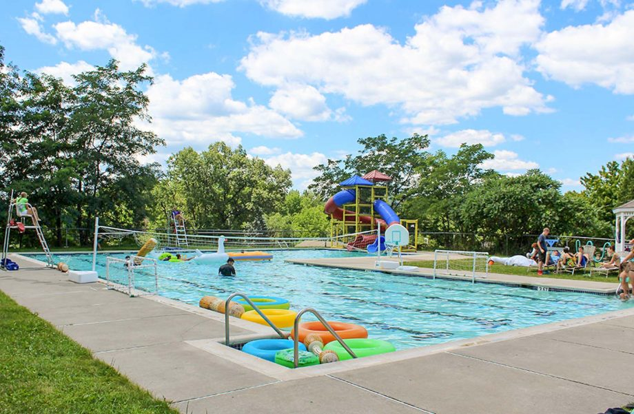 Camp Lindenmere pool and waterslide