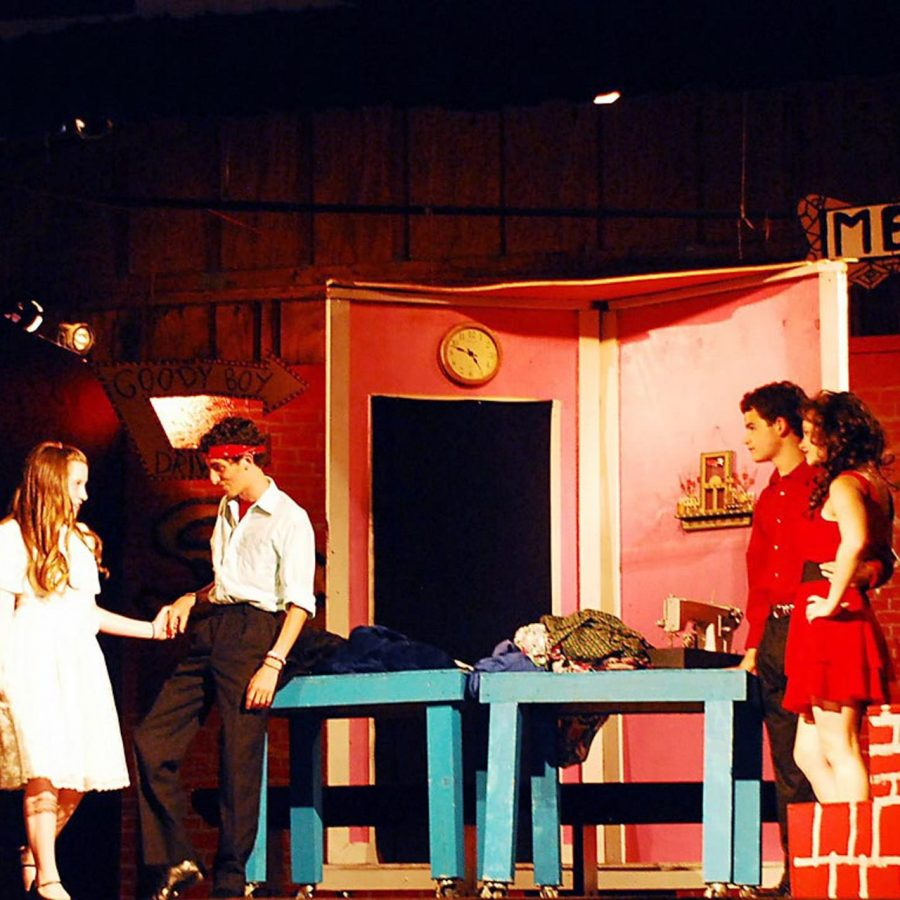 campers performing theatre