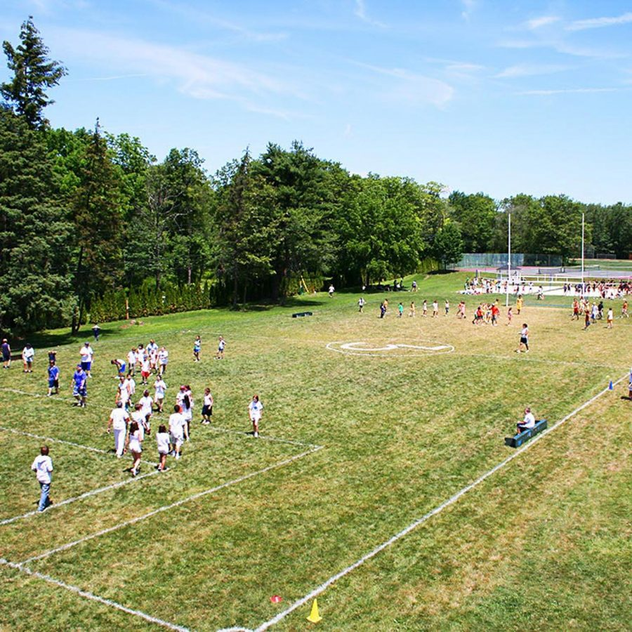 Camp tournament on field