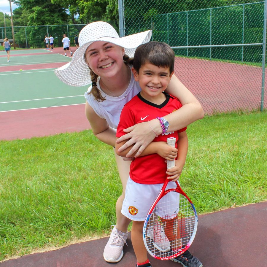 Tennis instructor and first time camper