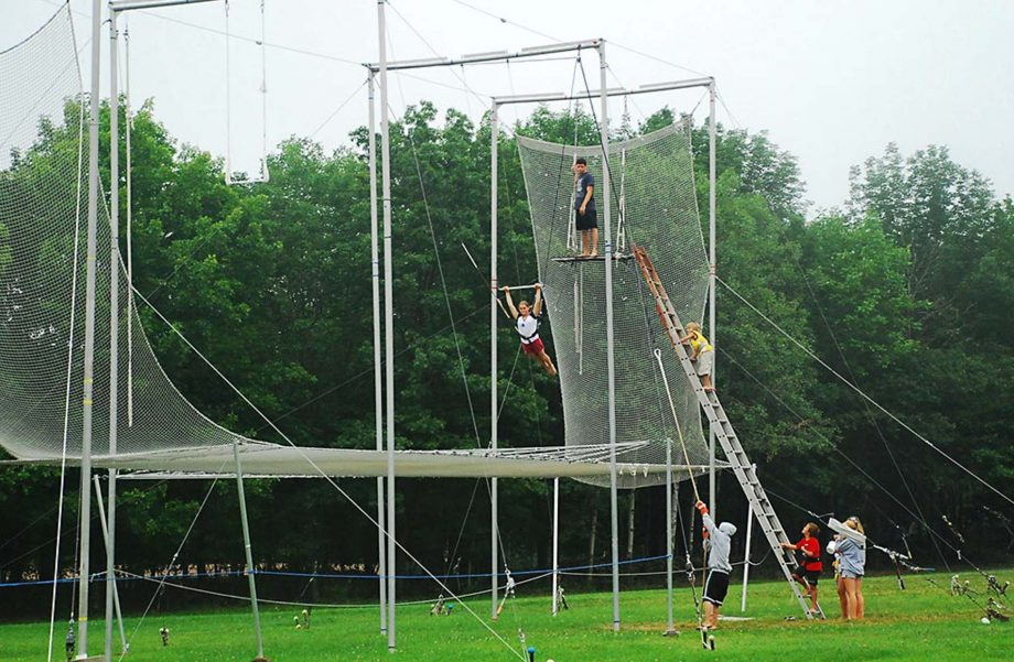 Kids on trapeze